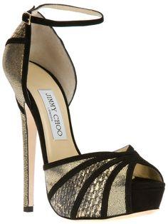 a7e6f8f859cd JIMMY CHOO  Kalpa  sandal - platforms in black   gold metallic
