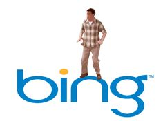 Hahahaha Chandler Bing dancing on the Bing logo. If you don't lolz at this, you don't have a soul.
