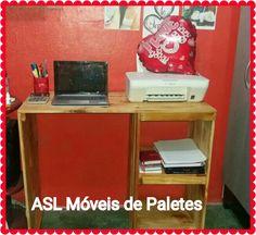 Mesa de computador de paletes. Pedidos 92991945468 #decoração  #paletes #sustentabilidade
