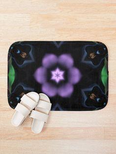 'A Green, Blue, Brown, Black, Ultraviolet Digital Mandala' Bath Mat by Beatrice Beute Bath Mat Design, Ultra Violet, Blue Brown, Apple Watch, Mandala, 3d, Digital, Green, Prints