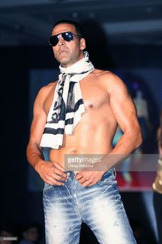 Indian actor and Levi's 501 brand ambassador Akshay Kumar poses on the catwalk during Levis 501 'Unbuttoned Campaign' at Taj Land's End on August 2008 in Mumbai, India. August 26, Akshay Kumar, In Mumbai, Levis 501, Brand Ambassador, Lands End, Catwalk, Campaign, Poses