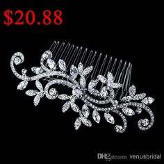 Wholesale Bridal Combs - Buy 2014 Fashion Classic Silver Plated High Quality Crystal Bridal Hair Accessory Wedding Bridal Combs, $11.52 | DHgate