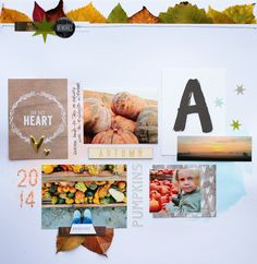 #papercraft #scrapbook #layout. Scrap Sweet Scrap: Herbst-Layout / a layout about the autumn