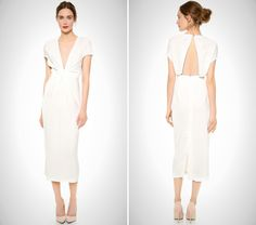 This modern frock is a great pick for the no-frills, minimalist bride.