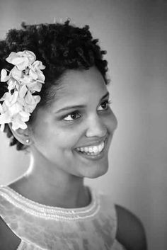 short fro with floral accent.