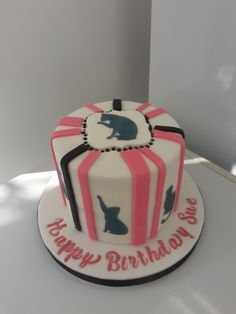 Cat Silhouette, Birthday Cake, Cakes, Happy, Desserts, Food, Tailgate Desserts, Deserts, Cake Makers