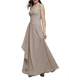 Great for Alicepub One Shoulder Chiffon Bridesmaid Dresses Long Formal Evening Prom Dress for Special Occasion taupe bridesmaid dresses. ($79.99) doodeeshopping from top store Taupe Bridesmaid Dresses, One Shoulder Bridesmaid Dresses, Women's Evening Dresses, Ball Gown Dresses, Short Dresses, Girls Dresses, Flower Girl Dresses, Sexy Backless Dress, Special Occasion Dresses