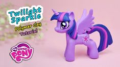 Making Twilight Sparkle. My Little Pony. MLP ✿ Polymer clay Tutorial (fi...