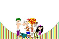 Phineas and Ferb - Complete Kit with frames for invitations, labels for goodies, souvenirs and pictures! | Making Our Party