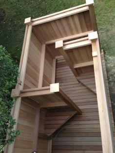 Outdoor shower enclosures stalls kits cedar pvc sauna - Outdoor shower enclosure ideas ...