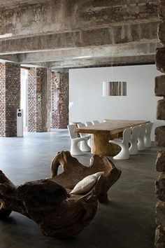 modern rustic  # exposed brickwork