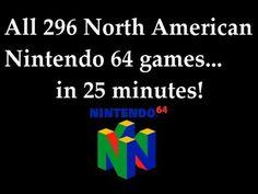 Every Nintendo 64 Game in One Video #nintendo #mario #video #n64