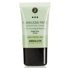 Shop Flawless Face Foundation Primer - Lavender by Absolute New York. Features a sheer green tint to help visibly neutralize redness, and correct discoloration. Too Faced Foundation, Flawless Foundation, Foundation Primer, Flawless Face, Makeup Primer, Color Correction, Smooth Skin, Lavender, Im Not Perfect