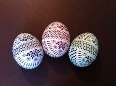 Sorbische Ostereier - Enteneier / Sorbian easter eggs - Duck eggs