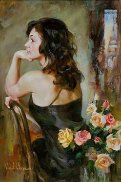 Michael and Inessa Garmash - the artists at work, hand embellishing two limited edition fine art prints on canvas. Description from pinterest.com. I searched for this on bing.com/images