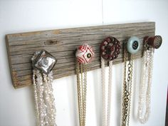Necklace Rack with Red Valve Handle by AuntDedesBasement on Etsy, $34.00