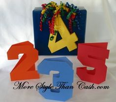 Making Kid's Number Birthday Cards or What about Anniversary Cards :)