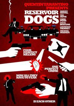 """Reservoir Dogs film poster""  by Hexagonall Design"