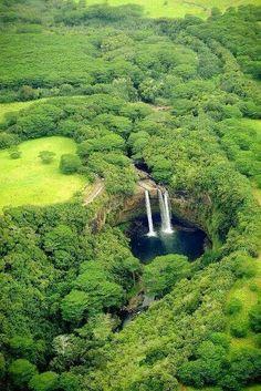 Wailua Falls, island of Kauai, Hawaii. Wailua Falls, island of Kauai, Hawaii. Places Around The World, Oh The Places You'll Go, Places To Travel, Around The Worlds, Travel Destinations, Travel Deals, Usa Travel, Holiday Destinations, Italy Travel