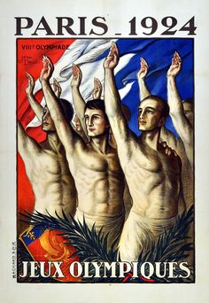 Jean Droit - VIII Olympiad: Original Vintage Sport Poster For The 1924 Olympic Games In Paris | 1stdibs.com