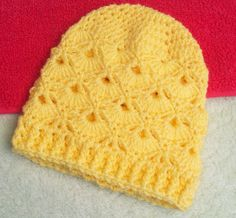 Little Fans-Down Under. Baby Beanie  Free Crochet Pattern      A decorative 20 row baby beanie    Matching sweater/cardigan now av...