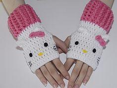 Hello Kitty Fingerless Gloves