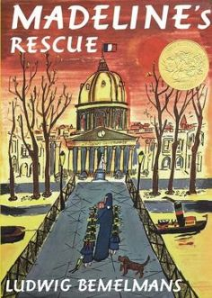 "Madeline's Rescue. ""When Madeline falls into the river Seine and nearly drowns, a courageous canine comes to her rescue. Now Genevieve the dog is Madeline's cherished pet, and the envy of all the other girls. Genevieve accompanies Madeline everywhere-to music class, to school, and on her daily walk. But all is not well for Miss Clavel, since there's only one dog for twelve little girls. What can be done when there's just not enough hound to go around?"""