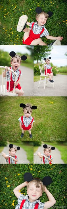 Emily Krbec Photography. Mickey Mouse inspired session!