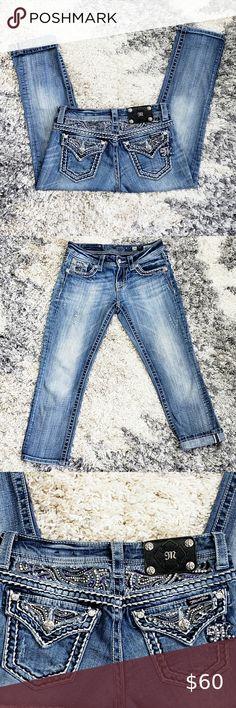 NWT Miss Me Girls Jeans Ankle Skinny Stretch Girls Size 12 16 Blue NEW