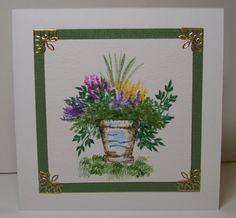 Watercolored Flower Pot Art Impressions wonderful watercolor line