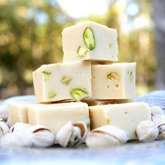 Baileys, White Chocolate and Pistachio Fudge - Christmas gift?