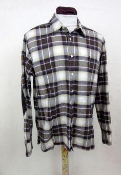 Tommy Hilfiger Long Sleeved Check Shirt Vintage Festival 100% Cotton Size Large
