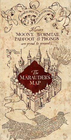 harry potter, hogwarts // the marauders map by moony, wormtail, padfoot & prongs Harry Potter Poster, Arte Do Harry Potter, Harry Potter Marauders Map, Theme Harry Potter, Harry Potter Spells, Harry Potter Films, Harry Potter Universal, Harry Potter World, The Marauders