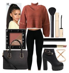"""""""Untitled #515"""" by the-fashion-fantasy ❤ liked on Polyvore featuring GURU, WithChic, NYX, NARS Cosmetics, Carbon & Hyde, Gucci, Clarins, Heels and sweaterweather"""