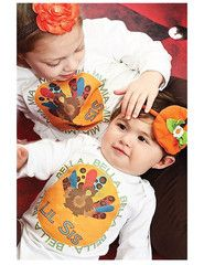 Thanksgiving Big Sister Big Brother Sibling Shirt Set Personalized | FUNKY MONKEY THREADS, #FMT, #funkymonkeythreads, #1stthanksgiving, #thanksgivingsisters