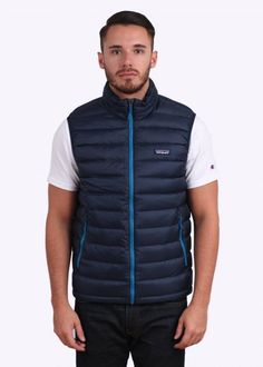 Patagonia Down Sweater Vest - Navy Blue