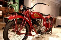 """Riga Motor Museum motorcycle collection. Indian-Scout 37 (USA, 1926). At the beginning of the 20th century, the name """"Indian"""" embraced quality and progress."""