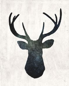 Free Art Download: Large 16″ x 20″ Stag Head Print                                                                                                                                                                                 More