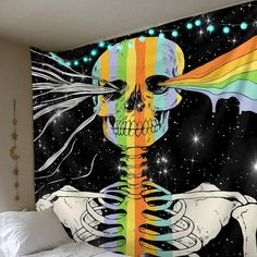 – Page 5 – Trippy Tapestry Space Tapestry, Trippy Tapestry, Into The Abyss, Tumblr Wallpaper, Black Backgrounds, Vibrant Colors, Objects, Skull, Shop Sale