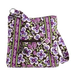 Vera Bradley purse (called Hipster) in Plum Petals - Does this mean I have to say I liked Vera Bradley before she had a sewing machine?  :-P