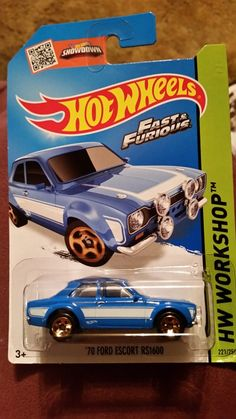 Hot Wheels Fast & Furious Ford Escort Chase car