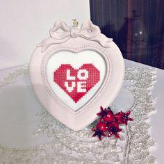 Cross stitch,love