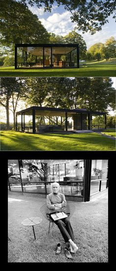 Philip Johnson& Glashaus - New Canaan, CT - Amerika-Design der Mitte des Jahrhunderts Amazing Architecture, Modern Architecture, Philip Johnson Glass House, Espace Design, New Canaan, Villa, Modern House Design, Modern Glass House, Glass House Design