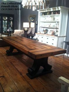 Custom Farm Table U0026 Bench. Michael Makes To Order. Pictures Do Not Do His  Work Justice. | Furniture Ideas | Pinterest | Table Bench, Farming And Farm  Tables