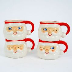 Retro Santa Mugs-We used to get these full of candies and nuts at class Christmas parties. =)
