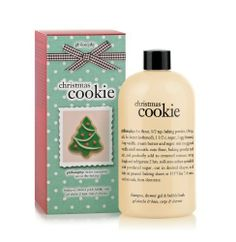 Philosophy Christmas Cookie Gel, 16 Ounce by Philosophy. $24.00. Feel wrapped in warmth and comfort. Capture the essence of christmas morning. Leaves skin and hair feeling ultra soft. Capture the essence of christmas morning with christmas cookie shampoo, shower gel and bubble bath. Feel wrapped in warmth and comfort, as the moisturizing formula gently cleanses and conditions skin and hair. The buttery, sugar cookie scent is sure to bring back childhood christmas memories. I...