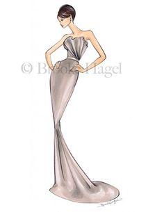 Brooke Hagel. Beautiful fashion illustrations. Very sophisticated, elegant and feminine.