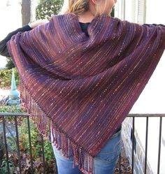 Handwoven Poncho in Luxurious Wool and Silk by MeridithWeaves