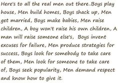 Comparing boys to men