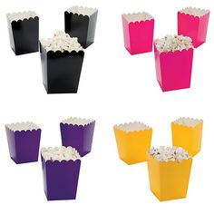 Mini Solid Popcorn Boxes - 9 Colors Available (Set of 24) [IN-3/3590 Mini Popcorn Boxes] : Wholesale Wedding Supplies, Discount Wedding Favors, Party Favors, and Bulk Event Supplies